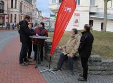 Informationsstand zur Erdgasförderung in Heringsdorf